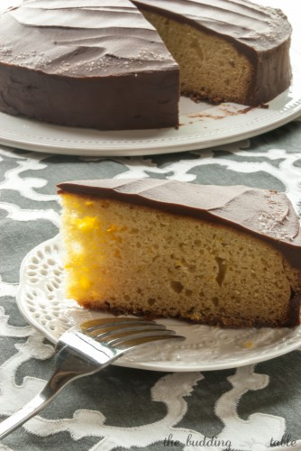 Orange Ricotta Cake with Chocolate Ganache