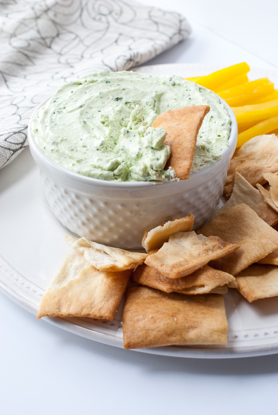 Whipped Feta & Spinch Dip | The Budding Table
